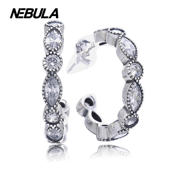 925 Sterling Silver Alluring Briliant Marquise Earrings Compatible With Pandora Earrings Jewelry