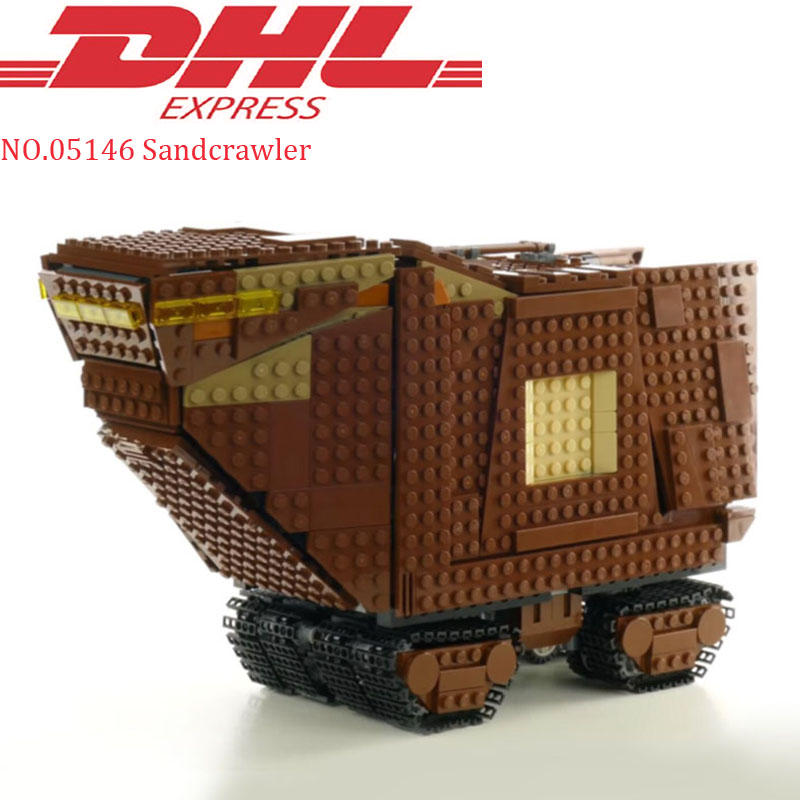 Lepin 05146 1388Pcs Star Wars Sandcrawler Sets Model Building Kits Blocks Bricks Educational Kids Toys Compatible Legoing 75220 lepin 05146 starwars the sandcrawler model set star plan wars 75220 building blocks bricks educational children collection toys