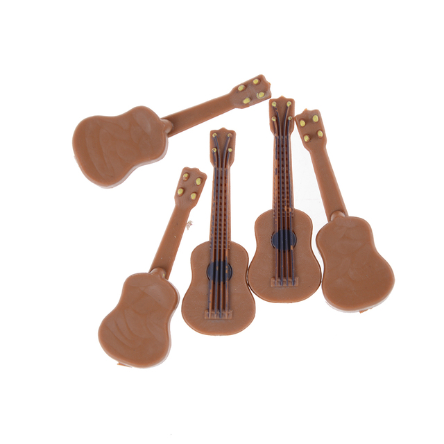 Realistic Miniature Guitar For Doll House