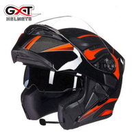2018 New GXT Double Lens Open Face Motorcycle Helmet G902 Flip UP Motorbike Helmets With Bluetooth