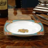 European dinner plate home deep soup dishes ceramic plate square bone china steak plate Western dish cutlery set