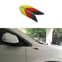 2pcs Set German Flag Pattern Fender Leaf Shape Sticker Decal Car Styling For Volkswagen VW Polo