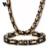 Vnox colar e pulseira conjuntos de jóias de aço inoxidável 316l cadeia de heavy metal do punk dos homens