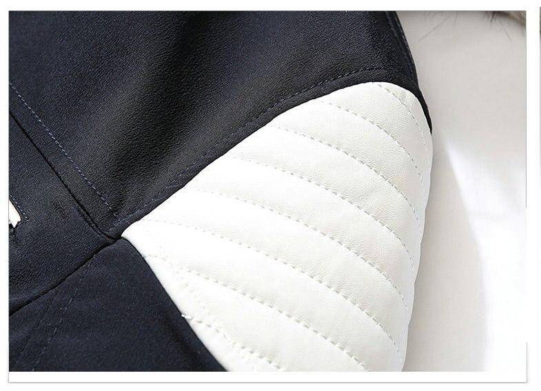 Autumn Winter Jacket Men 18 New Big Fur Hooded Thick Warm Mens Winter Coats Patchwork Color Windproof Parka Men Outwear 9