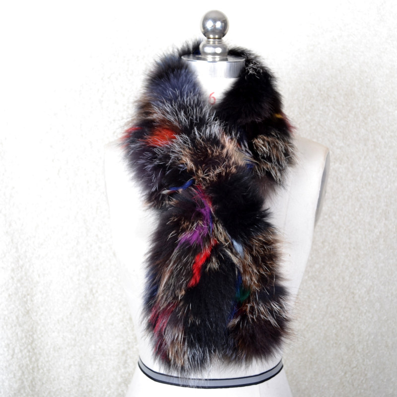 Women Scarf Hand Genuine Knitted Natural Whole Fox Fur Hot Sale Warm Real Fur Wrap Scarf Muffler Womens Winter Gift