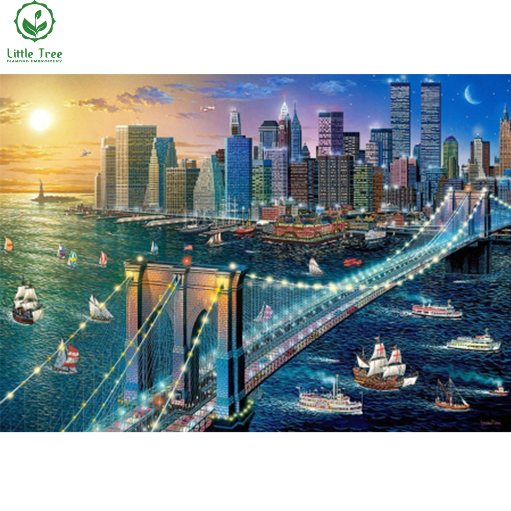 Бруклинский мост вышивка