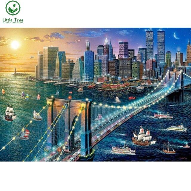 3d diamant broderie New York brooklyn pont moderne peinture à l ...