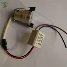 10pcs/lot 110V 220V Dimmable 1W/3W mini downlight 100% Real power  include led driver CE ROHS ceiling lamp mini light