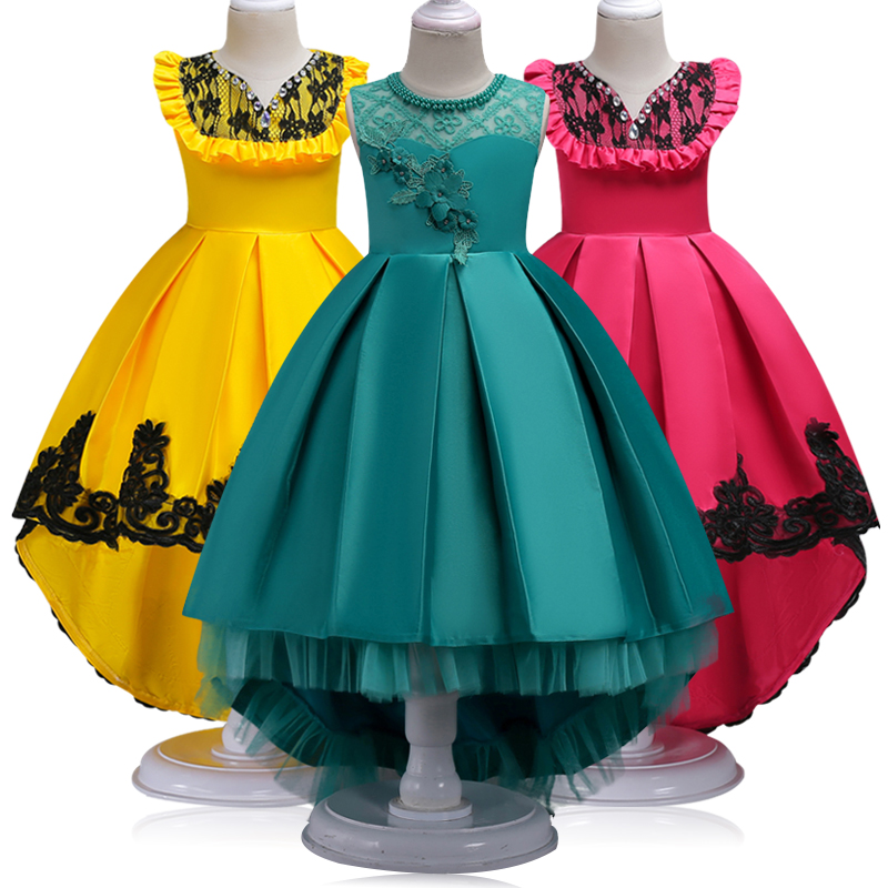 Teenager Girl Dresses New Girls Birthday Wedding Party Pageant Long Princess Dress Kid Christmas Costume Children Clothes 14Y new summer christmas costume bow girl party dress wedding birthday girls dresses tutu style princess clothes for children 3 8t page 7