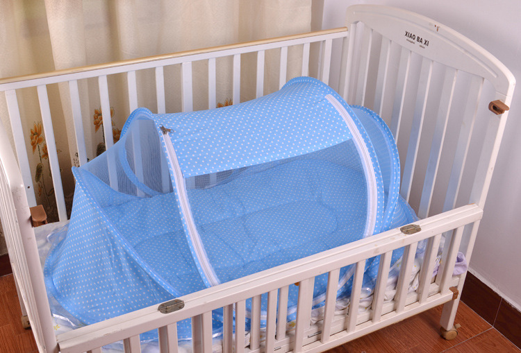 Foldable New Baby Crib 0-3 Years Baby Bed With Pillow Mat Set Portable Folding Crib With Netting Newborn Sleep Travel Bed Newest13