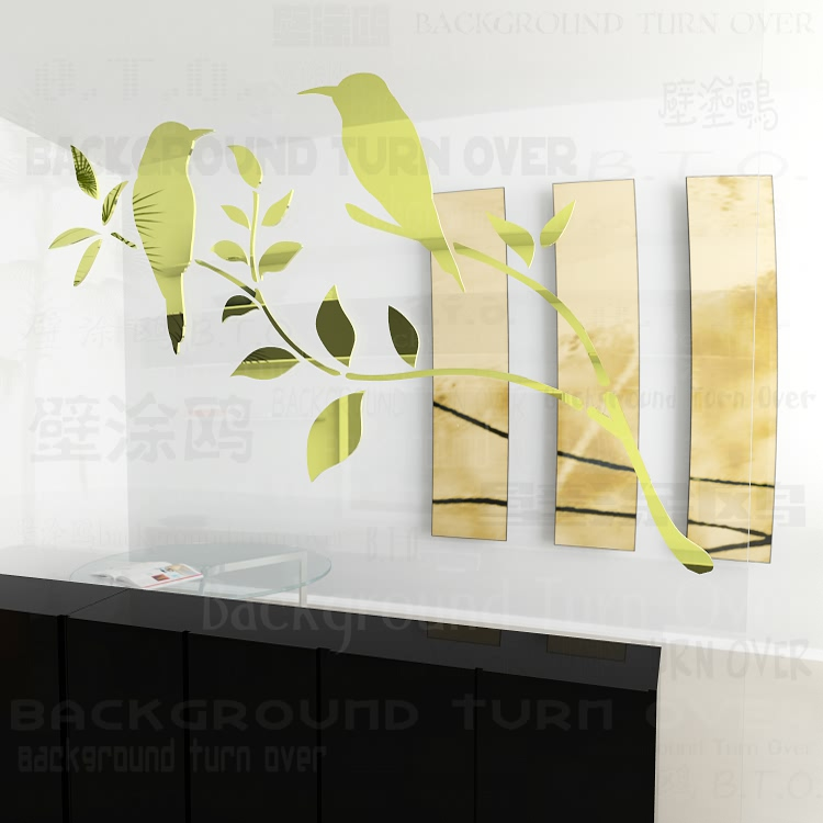 Various colors DIY Graceful magpie tree branch bird sticker wall decorations living room sofa TV backdrop decoration R053