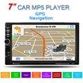 GPS 7 дюймов 2 Din HD Сенсорный Экран Поддержка громкой связи Автомобиля стерео Mp5-плеер FM USB SD Bluetooth Радио + Карта