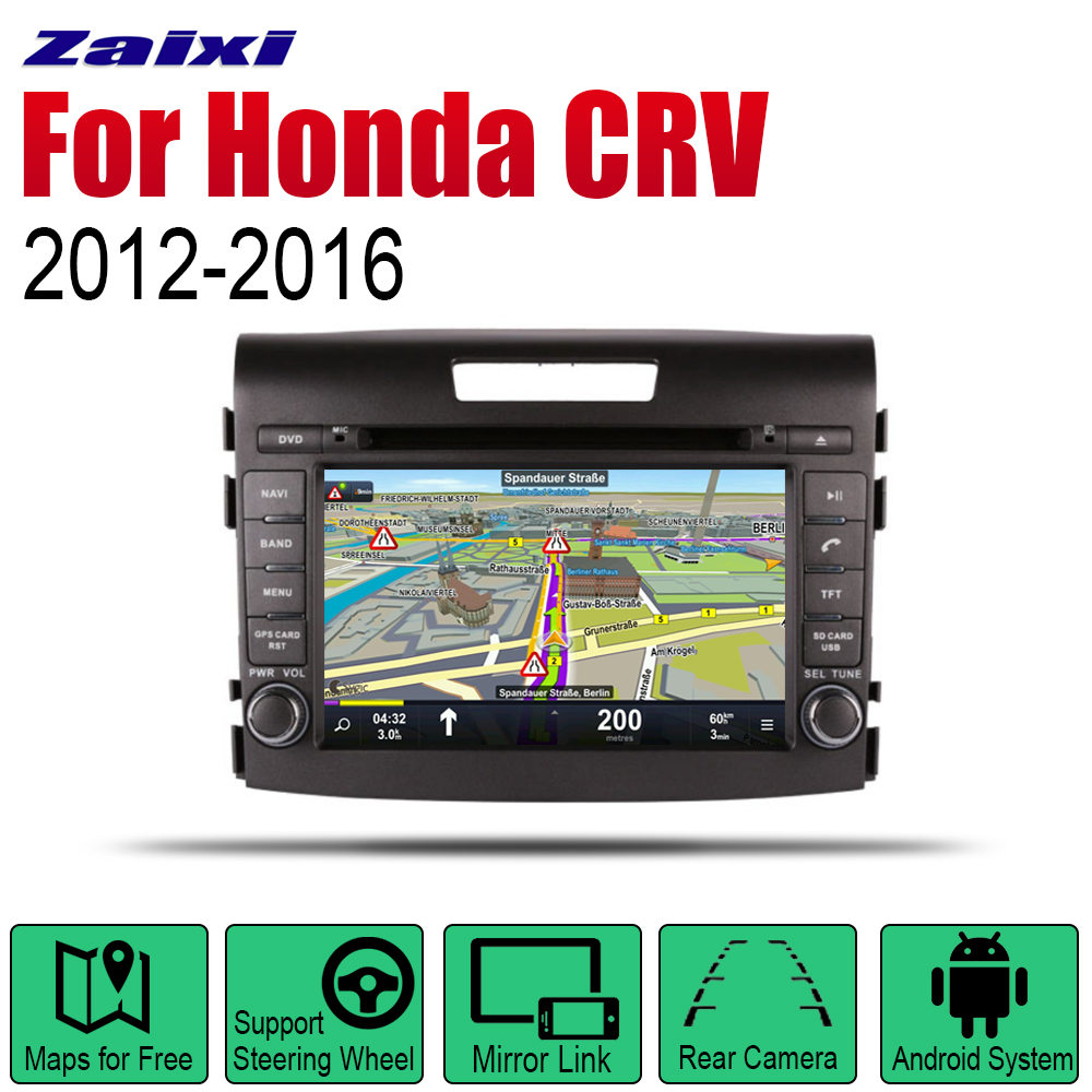 Car Radio Stereo <font><b>GPS</b></font> Navigation For <font><b>Honda</b></font> <font><b>CRV</b></font> 2012 <font><b>2013</b></font> 2014 2015 2016 wifi 2din Car Radio Stereo Multimedia Player Audio image