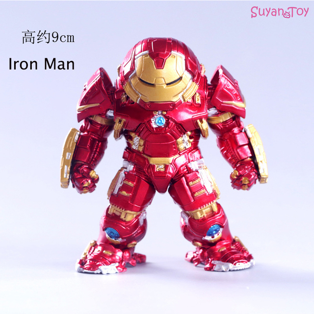 2 9 centímetros Vingadores Guerra Homem De Ferro Figura de Ação DO PVC Hulk Buster Armadura Collectible Modelo Figura de Ação Maravilha Figura Presentes brinquedos Dos Miúdos