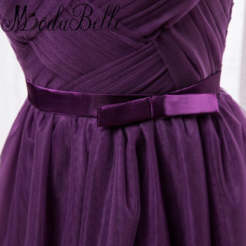 Modabelle uva dama de honor púrpura corto vestido de dama de honor ...