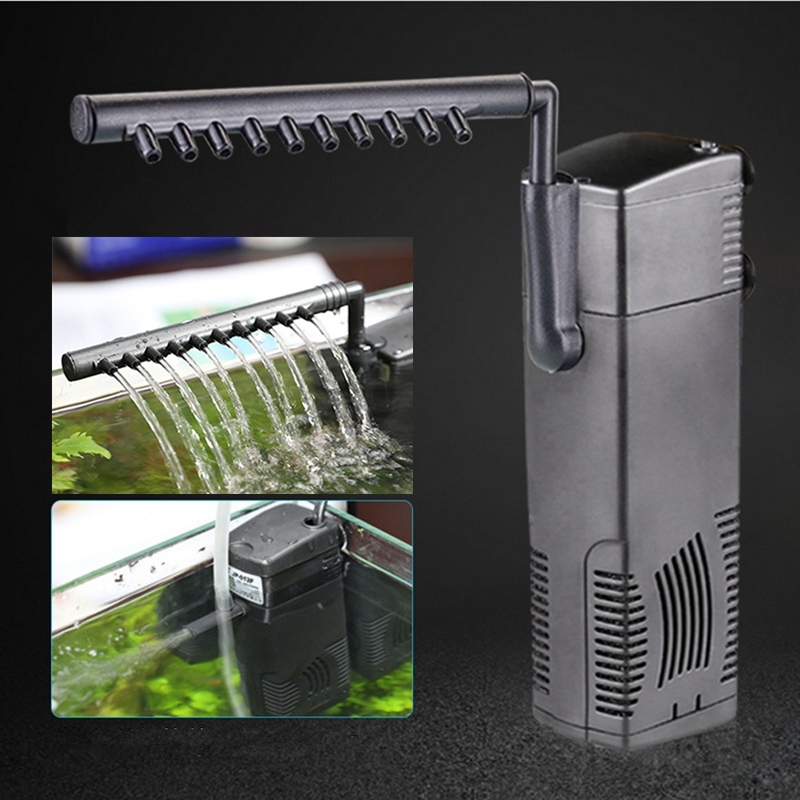 3 In 1 Silent Interne Aquarium Filter Tauchwasserpumpe Filter überlauf Mit Regen Spray Für Aquarium Schildkröte Tank