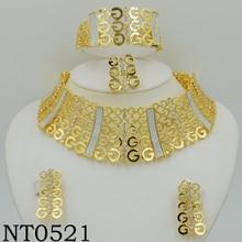 Boda Nigeriano Beads Africanos Joyería Establece grande Cristalino de La Manera Plateó Sistemas de La Joyería de Dubai Para Las Mujeres Diseño de Vestuario