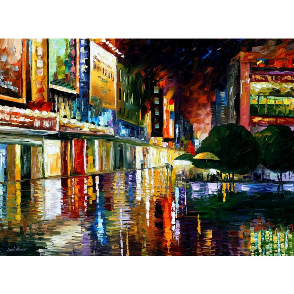 Landscape Oil painting pictures movie theatre palette knife canvas wall art modern home decor ...