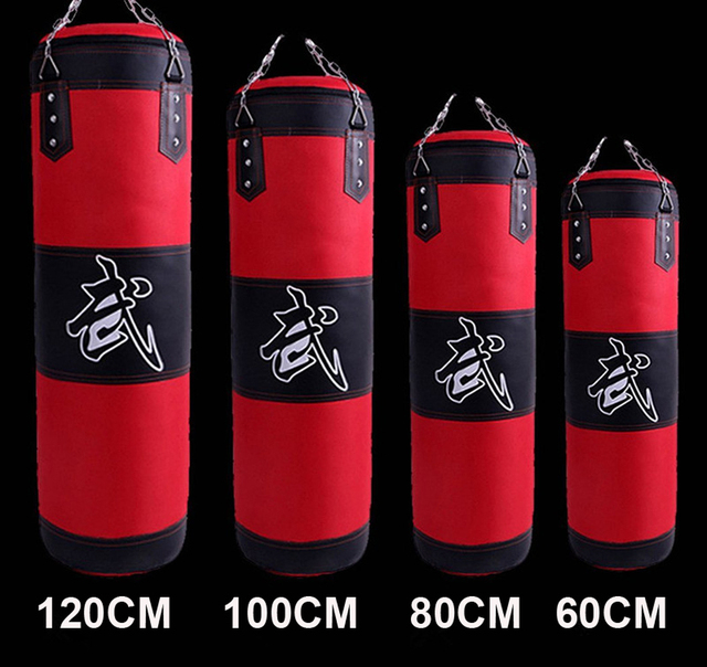 60 80 100 120cm Sandbag Thickened Canvas Punching Bag Sports Training Empty Boxing