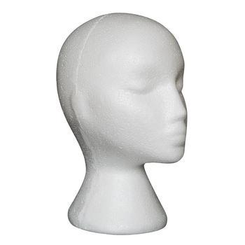 Styrofoam Mannequin head model foam Female Head Model Dummy Wig Glasses Hat Display Stand 2U0202 mannequin