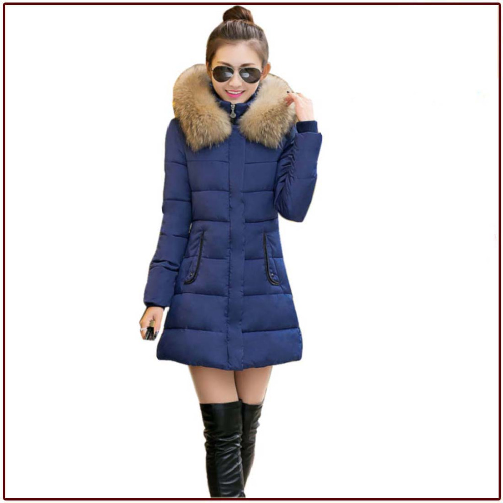 Woman Autumn coat Lady Winter down parka Girl Slim Solid Black Red Clothing 4 Color hooded fur parka free shipping Jacket