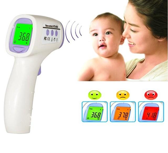 Nuevo bebé / adultos Digital multi función sin contacto frente infrarrojo termómetro del cuerpo pistola T02