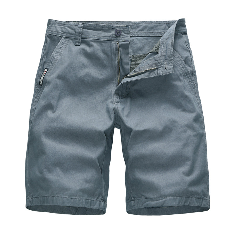 Shorts Men Clothing Slim-Fit Knee-Length Cotton Casual Summer Brand Fashion Solid