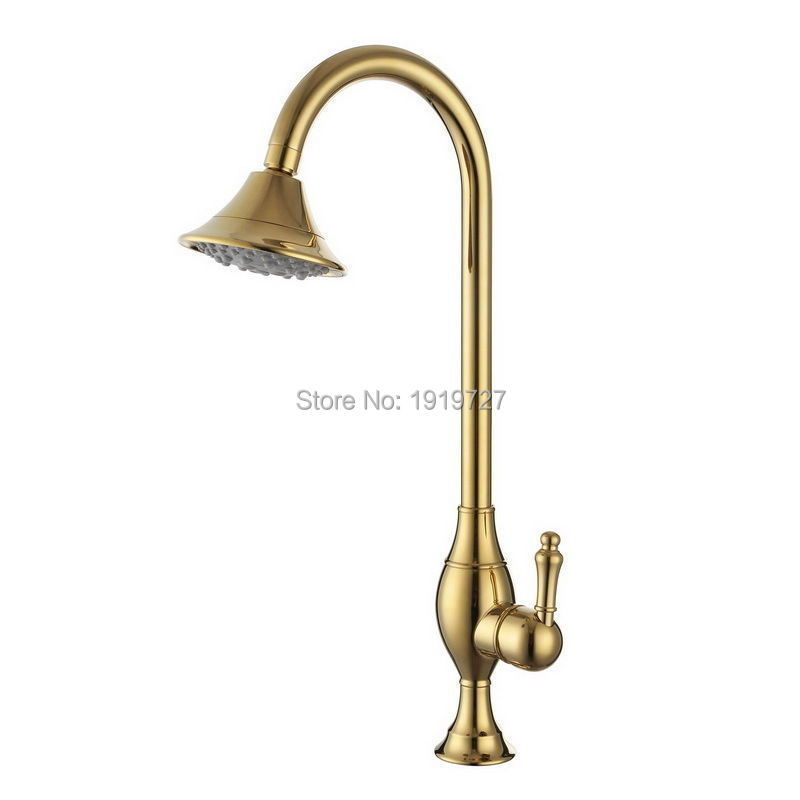 High Quality 100% Solid Brass Modern 120 Degree Swivel Kitchen Sink Faucet Golden Bar Perp Mixer Tap In Gold Or Chrome