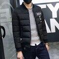 M-3XL 2016 collarless Winter Fashion Casual Thick Thermal Parka Men Slim Fit Winter Jacket Men Winter Coat Men Parka Homme