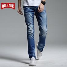 Джинсы мужские полной длины, однотонные облегающие брюки из денима, брендовая Дизайнерская одежда, роскошные повседневные