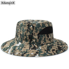 XdanqinX Jungle Camouflage Hat Adult Womens Beach Mens Bucket Hats 2019 New Wind Rope Fixed Fishing Cap Army Fat Caps