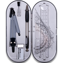 Nuovo 8 Pz/set Disegno Bussola Righello Kit sacchetto di Scuola Gli Studenti di Cancelleria Esame di Apprendimento di Matematica Strumenti Regali