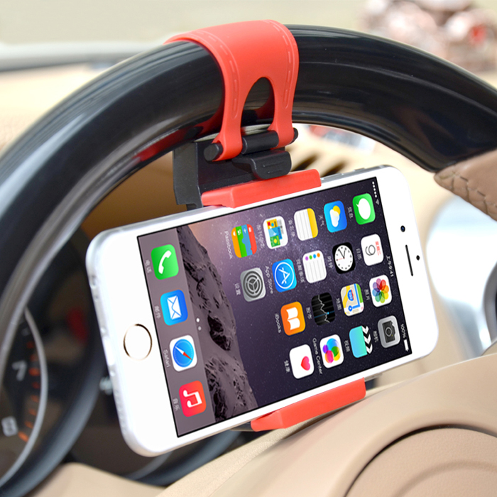 GPS Car Steering Wheel Phone Holder Navigate Bracket Stand