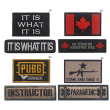 MAMAO 3D Embroidery Patch For Cap INSTRUCTOR Canada Flag Tactical Military Morale Patches Emblem Appliques Embroidered Badges