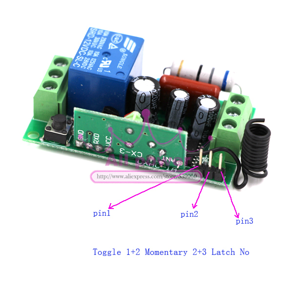 RF inalámbrico control remoto interruptor de luz 220 v sistema de interruptor de alimentación 12 2 receptor y transmisor 12CH 10A lámpara de luz LED SMD encendido apagado - 4