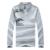 Camisa de t dos homens 2016 novo manga longa t camisa carrinho gola V pescoço t-shirt dos homens floral impressão slim fit algodão camisetas