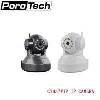 C7837WIP H.264 IR Cut Pan Tilt 720P 1.0MP CMOS Sensor Wireless IP Camera support Motion Detection PC APP Phone APP black