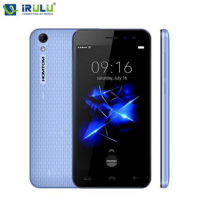 "iRULU HOMTOM HT16/HOMTOM HT16 PRO 3G 5.0"" 720P Smartphone Android 6.0 Quad Core MTK6580 1GB+8GB ROM 3000mAh Mobile Phone"