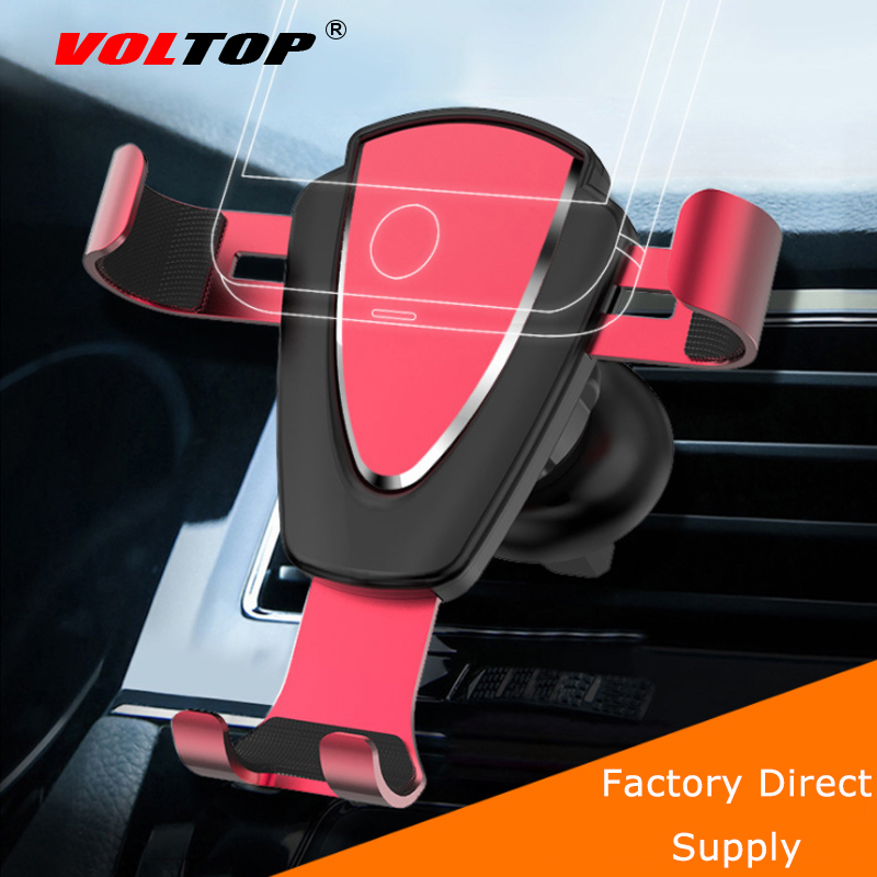 VOLTOP Alloy Gravity Phone Holder Car Accessories Air Outlet Universal Mobile Phone Navigation Support Stand Auto Supplies