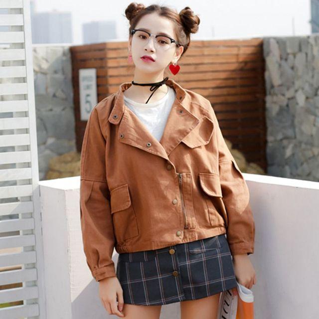 Moda Batwing denim jaquetas mulheres primavera outono Único breasted denim solto jaqueta curta senhora cowboy casacos Casuais Grande Tamanho 020