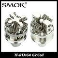 100% original smok tf rta g4/g2 cubierta para smok tf-rta Atomizador tanque Quad-bobina Cubierta G4 vs Cubierta G2 de Doble poste de la Velocidad E cigarrillo