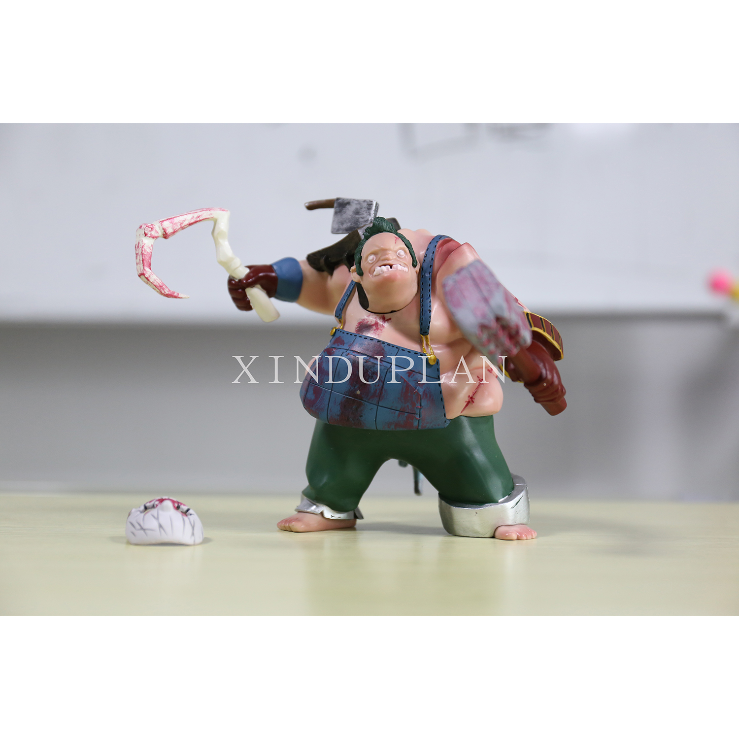 XINDUPLAN Dota 2 Anime Dota2 New Pudge Action Figure Toys Cartoon Game 16cm 1Pcs PVC Kids Gift Collection Model 0187 saintgi street fighter v ken bigboystoys with light action figure game toys pvc 16cm model kids toys collection