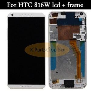 Image 1 - 100% testowane do HTC Desire 816 LCD ekran dotykowy z ramką dla HTC Desire 816 wyświetlacz montaż Digitizer 816D 816 T D816W D816