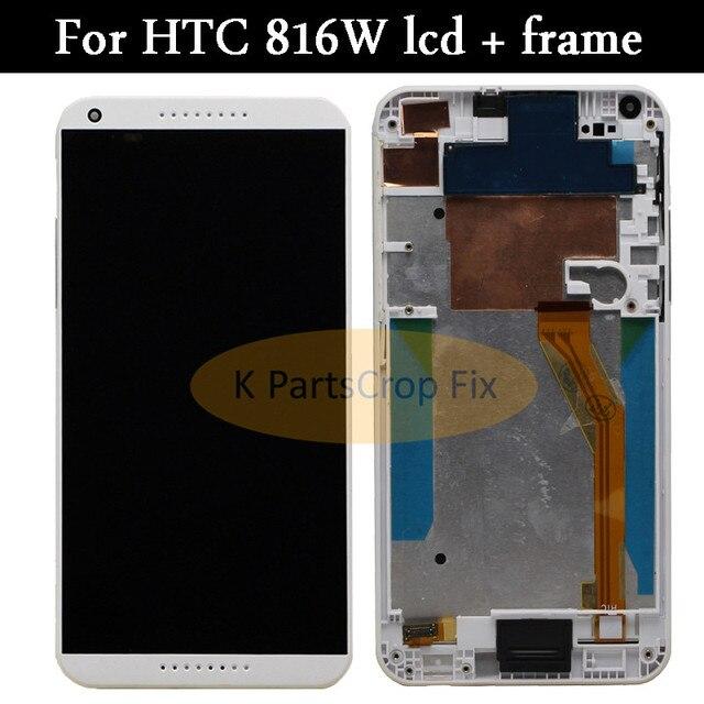 100% testowane do HTC Desire 816 LCD ekran dotykowy z ramką dla HTC Desire 816 wyświetlacz montaż Digitizer 816D 816 T D816W D816