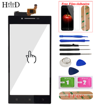 Écran tactile Mobile 5.0 pour Lenovo P70 P70T écran tactile en verre panneau numériseur avant verre capteur de lentille outils + protecteur décran