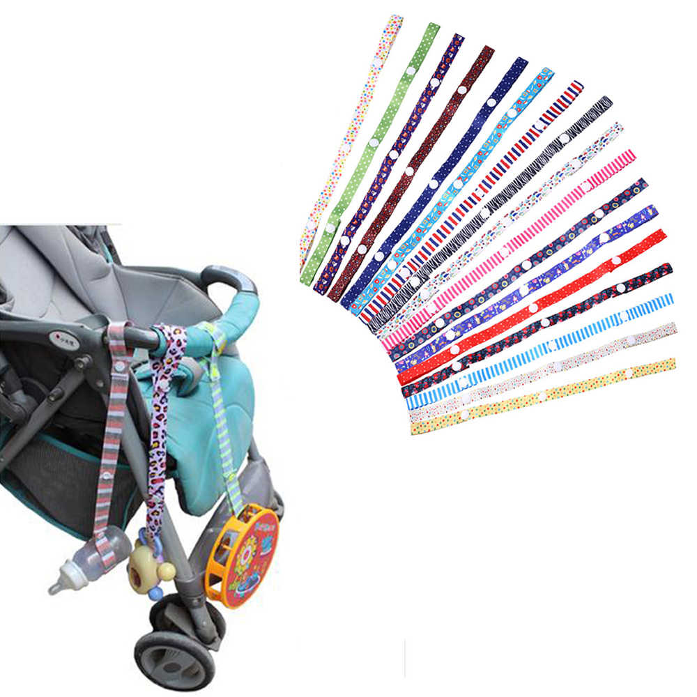 1pc Baby Stroller Accessories Toys Teether Pacifier Bottle Anti-lost Chain Strap Holder Belt Colorful Pacifier Clip For Stroller