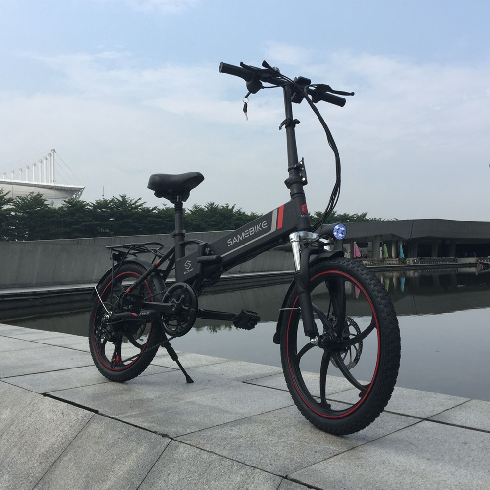 "Samebike 20"" Electric Bike 48V 8Ah Built-In Lithium Battery E Bike Electric Bicycle Folding Powerful Motor Electric Bike Cycling"