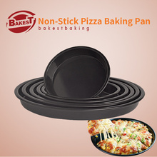 BAKEST Round Shape Non-Stick Deep Pizza Pie Baking Pan Multiple Size Selection