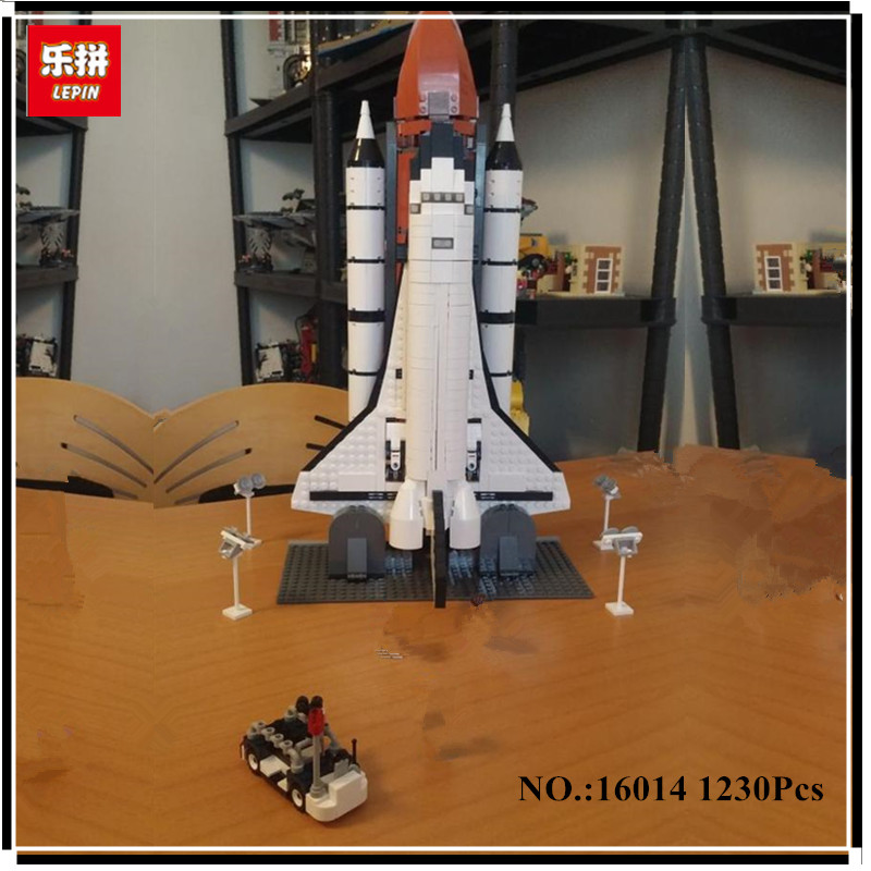 IN STOCK New LEPIN 16014 1230Pcs Space Shuttle Expedition Model Building Kits Mini Blocks Bricks Compatible Children Toy 10231