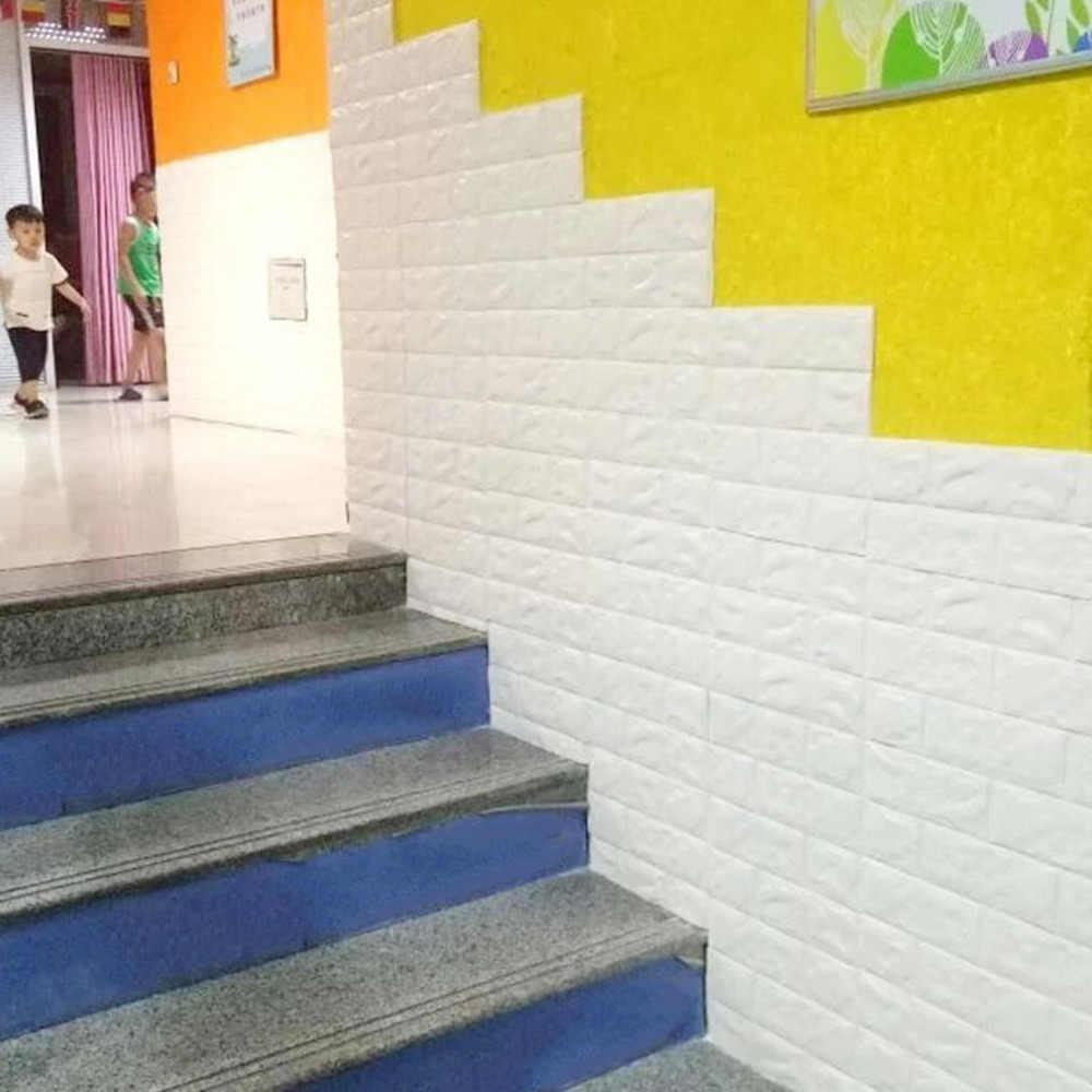 50a56a7ba5050 Autoadhesivo 3D ladrillo espuma EVA impermeable decoración casera DIY papel  pintado de pared para TV Fondo